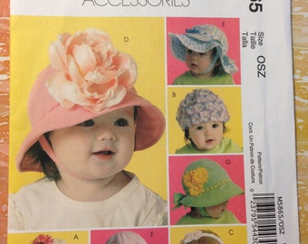McCall's 5865  Infants' and Toddlers' Hats