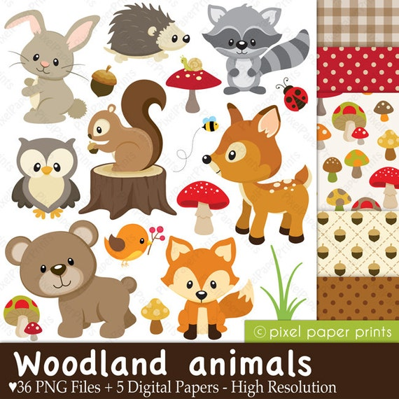 free clip art woodland animals - photo #45