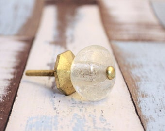 Glass Drawer Knobs, Modern Drawer Pulls, Glass Cabinet Pulls, Geometric Knobs, Glass Gold Knobs, Dresser Drawer Knobs, Fixer Upper Style