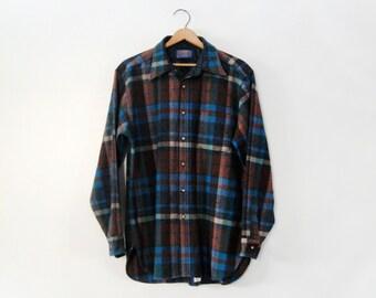 Vintage Pendleton Long Sleeve Wool Button Down Shirt - Men's Large