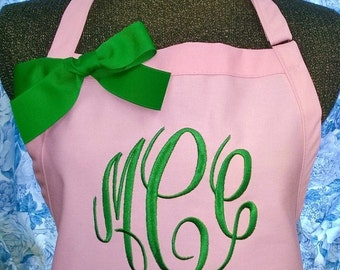 Apron Personalized Initials Name Kitchen Chef Style