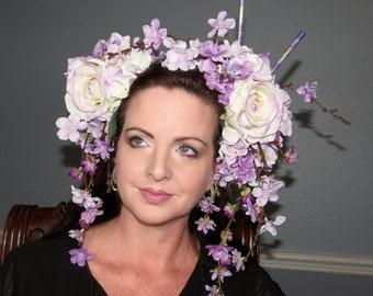 LAVENDER GEISHA Purple, Lavender Kawaii Oriental Headdress