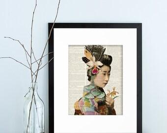 Asian Art, Geisha, Geisha Art, Geisha WallArt, Geisha Artwork, Geisha Prints, Japanese Art, Japanese Geisha Art, Japanese Artwork, Asian Art