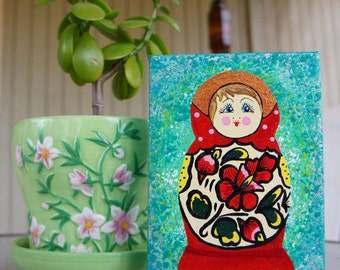 Matryoshka Canvas Painting