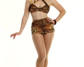 Tiger Print 2 Piece Swimsuit