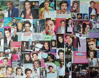ROBERT PATTINSON ~ The Twilight Saga, Twilight, New Moon, Eclipse, Breaking Dawn, Edward Cullen ~ Color Clippings for Scrapbooking