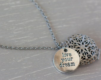 Essentail Oil Diffuser Necklace, Aromatherapy Jewelry, Stainless Steel Oil Necklace, Diffuser Jewelry, Diffuser Locket, Aromatherapy Locket