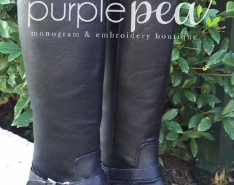 Monogrammed  Boots, Girls Monogrammed Boots, Girls Riding Boots