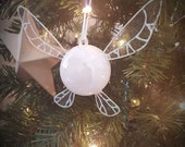 White Snow Navi, Zelda Style fairy-Small Ornament (led light)