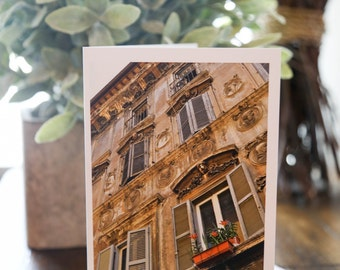 Travel Stationary | Rome, Italy | 4.5x5 | Blank Inside | Single, Set of 5 or Set of 10