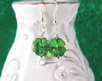Shamrock Earrings, St. Patrick's Day Earrings