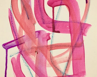 """Original Abstract Painting - """"Sweet Tangle"""""""