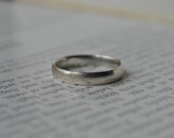 Vintage Sterling Ring - 1970s Unisex Silver Band