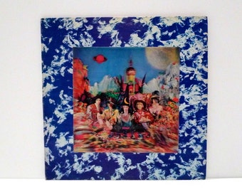 Rolling Stones Vinyl Record 1967 Vintage Their Satanic Majesties Request Lenticular Cover Mick Jagger Keith Richards Brian Jones Hologram 3D
