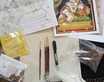 Do it yourself Tanjore painting kits