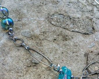Aqua aura, high vibration stone necklace