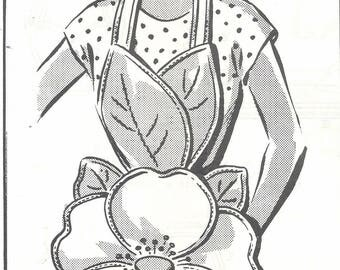1950s Mail Order 5679 Women's Flower Apron Sewing Pattern UNCUT