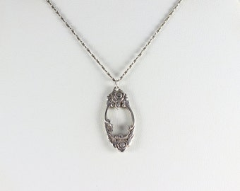 Sterling Silver Spoon Necklace 18 inch Chain