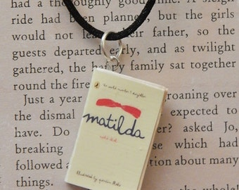 Matilda Book Necklace