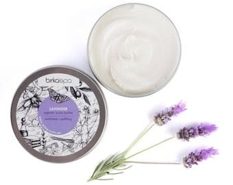 Lavender Body Butter -  Shea Body Butter - Organic Body Butter - Antistress Cosmetics - Butter - Uplifting - Natural Cosmetics - Organic