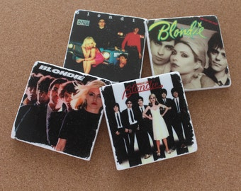 CLEARANCE! - Blondie Album Covers (set of 4 tumbled marble tile coasters)