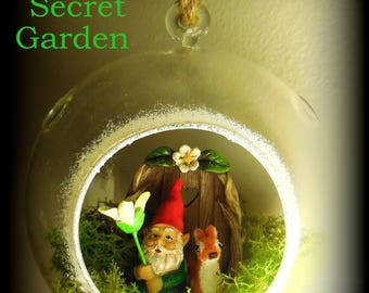 The Secret Garden ( Hanging Gnome Terrarium )