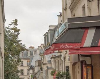 Paris Photography, Paris Print, Paris Decor, Parisian cafe; Montmartre (portrait layout)
