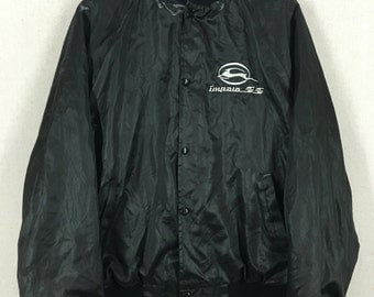 Vintage Chevy Impala SS Black Satin Jacket Sz L/XL USA