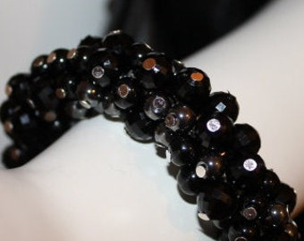 Black Pearl Jewelry, Black Pearl Bracelet, Black Beaded Jewelry, Black Beaded Bracelet, Pearl Jewelry Black, Pearl Bracelet Black, Jewelry