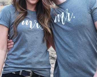 Couples Shirts / Honeymoon Shirts / Mr and Mrs Shirts / Mrs Shirt / Hubby Wifey Shirts / Wifey Shirt / Couples Shirt Set / Wifey / Hubby