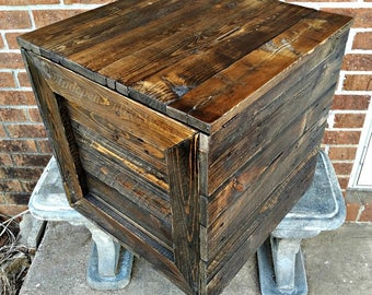 Reclaimed Wood Crate Etsy