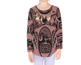 Kid's Maui Moana Inspired Long Sleeve Shirt