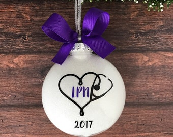 Nurse Ornament, LPN Gift, Nursing Graduation Gift, Nurse Graduation, Nurse Gift Ideas, Nursing Gifts, Thank You Nurse, Nursing Student Gifts
