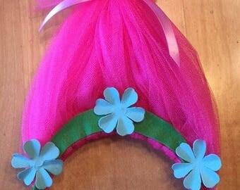 Pricess Poppy Troll Headband