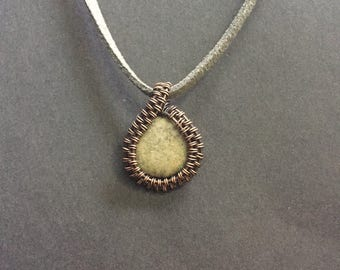 Copper Wire Wrapped Pendant Necklace