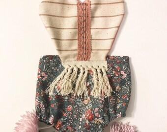 Gigi Boho Romper || boho baby romper || Floral Romper || baby clothing || fringe romper
