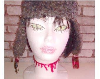 EMO punk goth blood Necklace Horror, collar sangre zombi