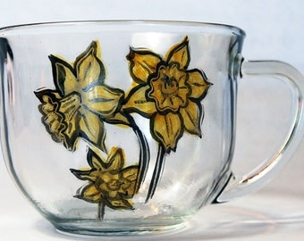 Daffodil Tea Cup // Daffodil Mug // Daffodil Gifts // Mothers Day Gifts // Easter Gifts for Her // Gifts for Mom // Daffodil Decor //