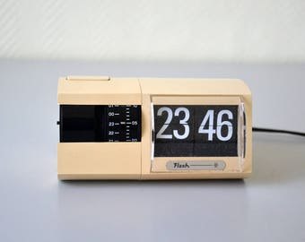 Vintage flip flap clock FLASH / 70s alarm clock