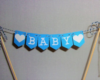 Baby Cake Topper, Baby Shower Cake Topper, Baby Boy Decoration, Baby Wall Banner, Mini Baby Cake Banner, Mini Banner, Sale
