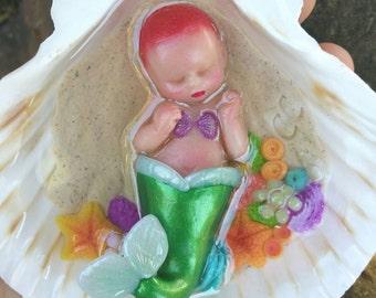 Sale! Newborn Baby Mermaid In Coral