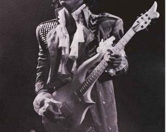 Prince Purple Rain Portrait B/W   Rare Poster
