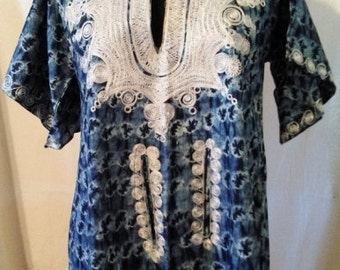 African Clothes, Batik Embroidered Tunic