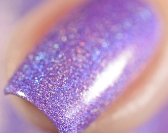 Holographic Nail Polish - Purple Nail Polish - Violet Nail Polish - Birthday Present - Gift for her - Holo Polish