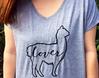 READY TO SHIP! Llama Lover TShirt / Llama Shirt / Llama Lover Gift / Animal Lover Gift / Animal Lover Shirt / Llama Stuff