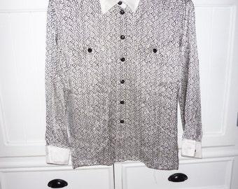 ESCADA silk blouse size 40 EN - 1980s