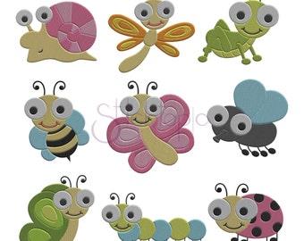 Cute Bugs Complete Set Bundle - 8 Sizes each 72 designs 10 Formats PES DST VP3 - Bug Machine Embroidery Designs -  Instant Download Files