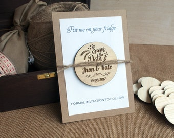 Save the Date | Wood Save the Date| Rustic Save the Date | Save the Date Magnet | Wood Magnet | Custom Save the Date
