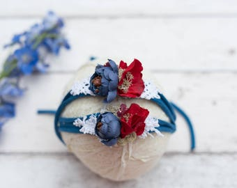 Patriotic headband prop. Red, white and blue headband.