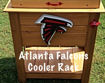 Wooden Falcons Patio Cooler on Legs with Bottle Opener